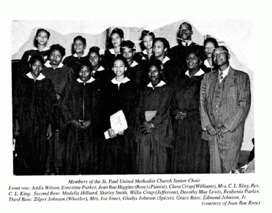 Members of St. Paul Methodist Church (Courtesy Jean Rae Rose)