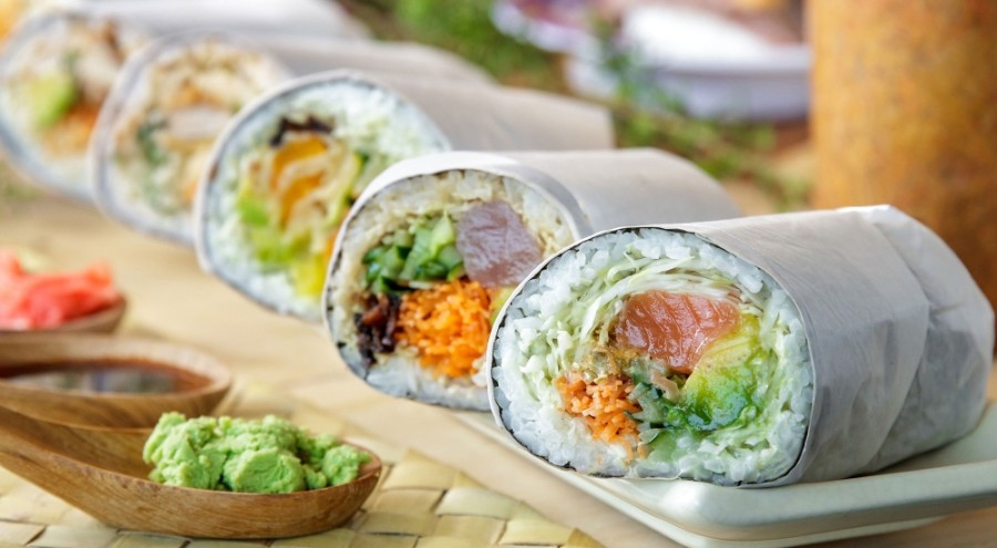 U-Maki is known for burritos, bowls and salads filled or topped with protein, rice, vegetables and sauces. (Courtesy U-Maki Sushi Burrito)