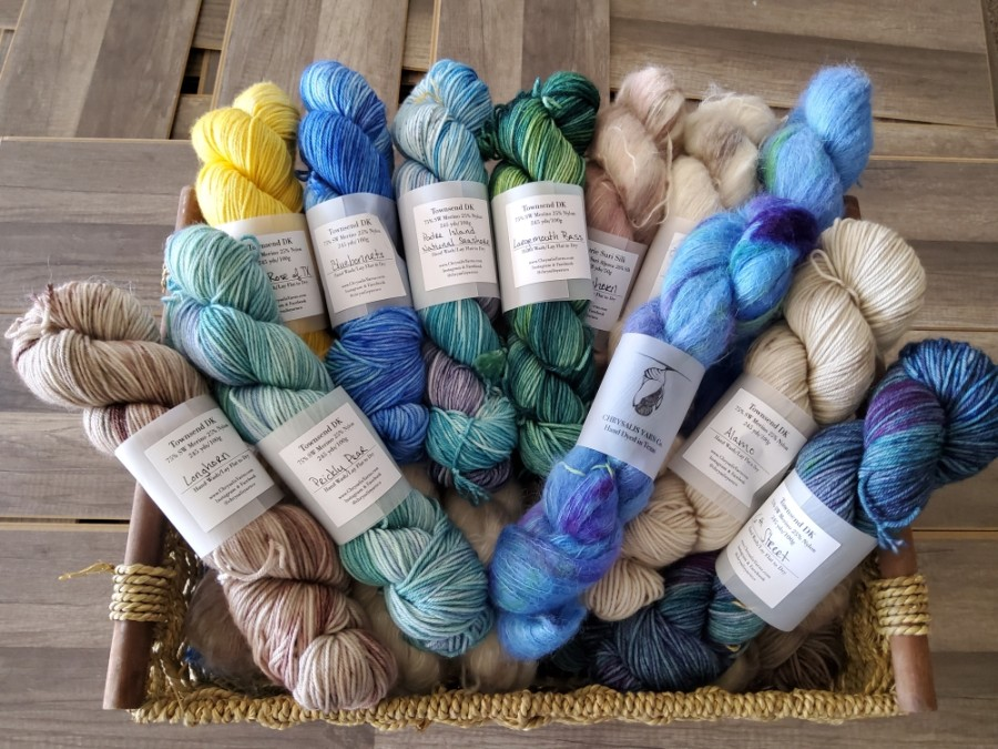Dallas-based independent yarn dyer Chrysalis Yarn Co. is one of several yarn brands DMH Fiber & Yarn will offer at its store. (Courtesy DMH Fiber & Yarn)