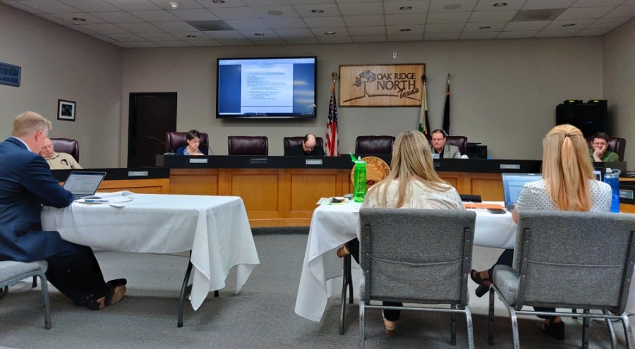 Oak Ridge North's City Council gathered for a regular meeting June 8. (Ben Thompson/Community Impact Newspaper)