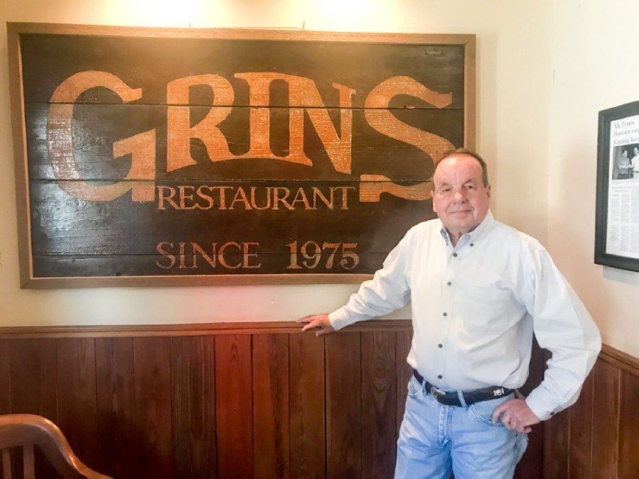 Grins Restaurant co-owner Paul Sutphen said he understands the concerns about coronavirus with his employees. (Community Impact Newspaper)