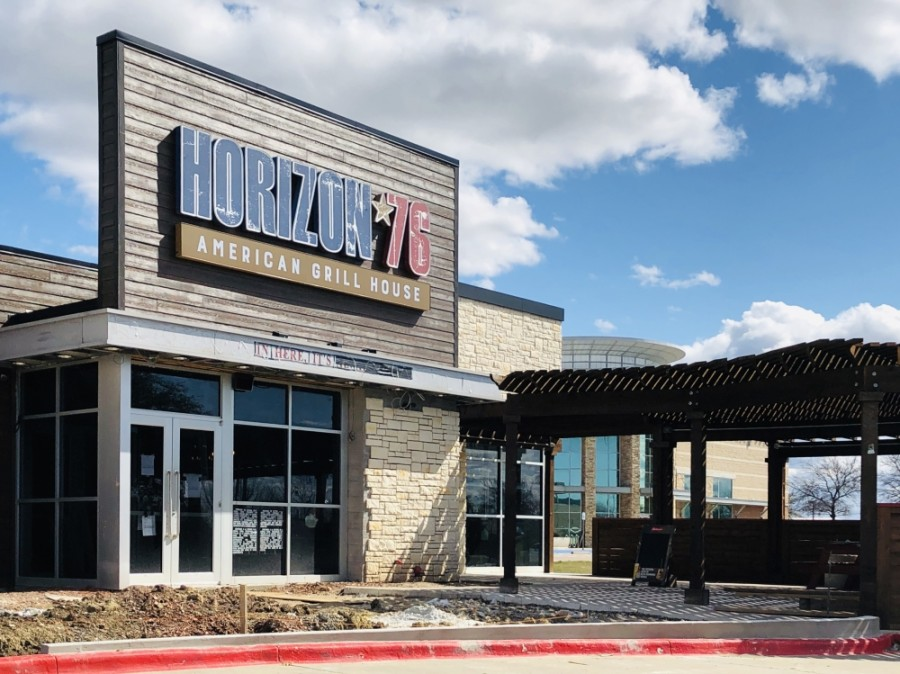 American grill house Horizon 76 is expected to open in late June in Keller. (Ian Pribanic/Community Impact Newspaper)