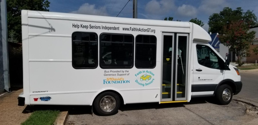 Faith in Action is a nonprofit organization dedicated to offering transportation services to seniors. (Courtesy Faith in Action)