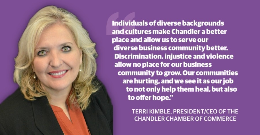 Terri Kimble, president and CEO of the Chandler Chamber of Commerce, sent a message to the business community earlier this week on the importance of diversity and inclusion in business. (Community Impact staff)