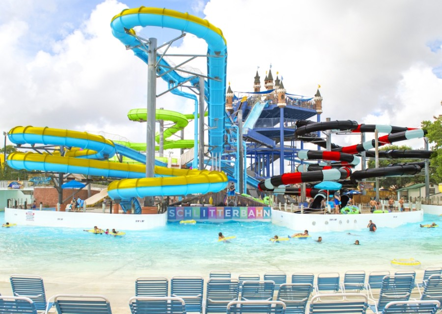A rendering shows the new color schemes at Blastenhoff Tower. (Courtesy Schlitterbahn)