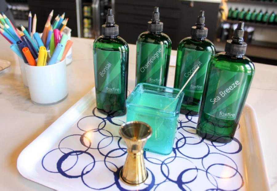 Customers can create their own scents at Foxfire Candle Works, a Spring-based candle boutique and fragrance bar. (Hannah Zedaker/Community Impact Newspaper)