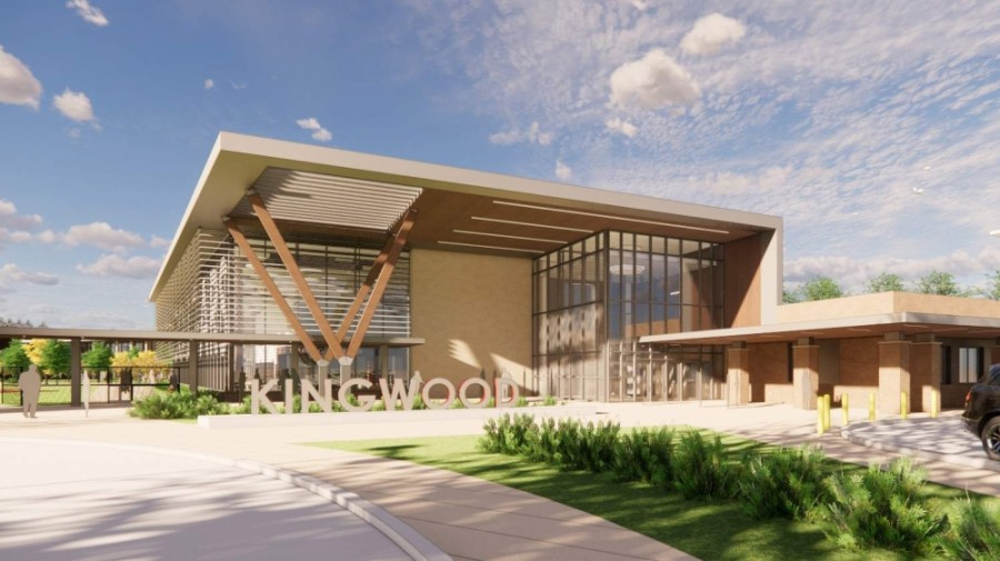The rebuilt Kingwood Middle School will open in August 2022. (Rendering courtesy Humble ISD)