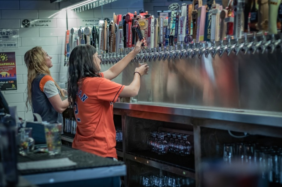 Tapped DraftHouse & Kitchen, with locations in Conroe and Spring, is one of several bars and eateries in The Woodlands area gradually working toward a full reopening. (Courtesy Tapped DraftHouse & Kitchen)