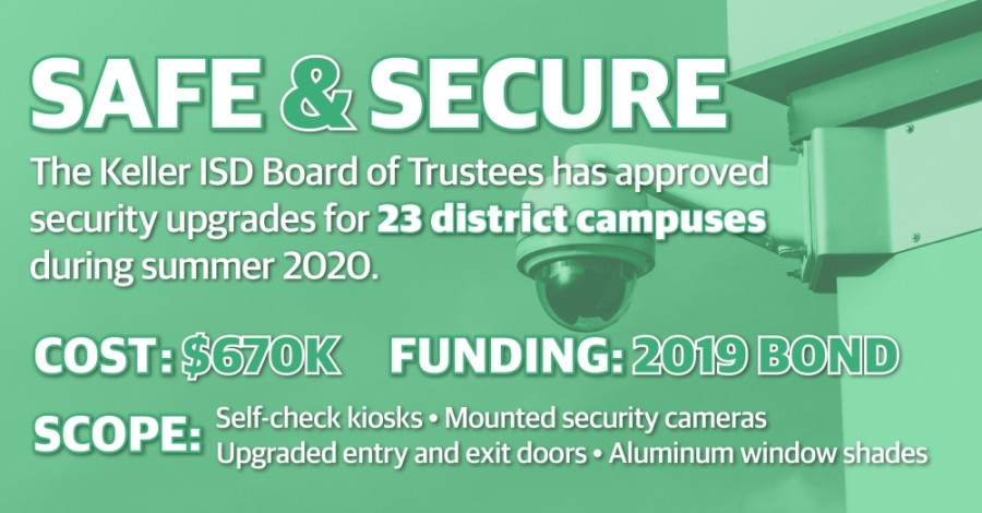 At a special meeting June 8, trustees approved a contract of $670,800 to approve existing security measures at entryways of KISD schools. (Katherine Borey/Community Impact Newspaper)