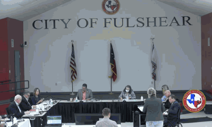 Fulshear Public Works Director Sharon Valiante discussed details of new generator project in the city. (Screenshot via city livestream)
