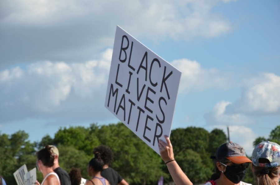 Chaps for Black Lives Matter recently began in the Wesltake area. (Courtesy Chris Backus)