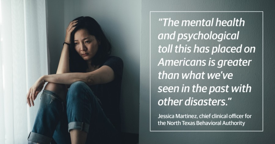 An upheaval of this magnitude is unprecedented, which makes emotional distress more difficult to manage, said Jessica Martinez, chief clinical officer of the North Texas Behavioral Health Authority. (Courtesy Adobe Stock)