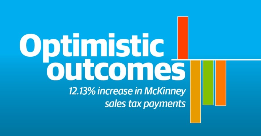 The city of McKinney received a year-over-year increase in sales tax revenue for payments collected from the month of April. (Graphic by Michelle Degard/Community Impact Newspaper)