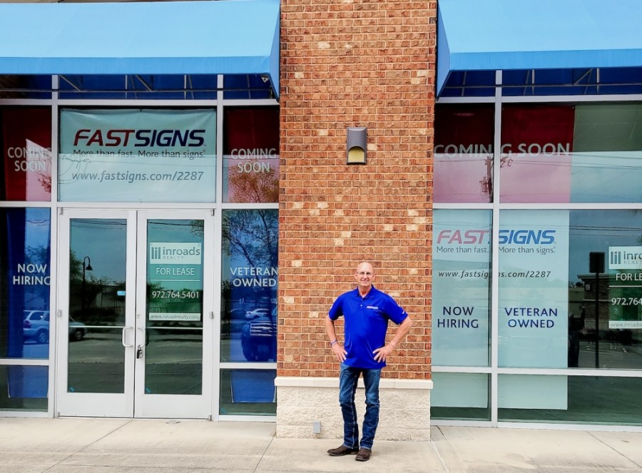 The Richardson franchise owner is Darrin Lawrence. (Courtesy FastSigns)