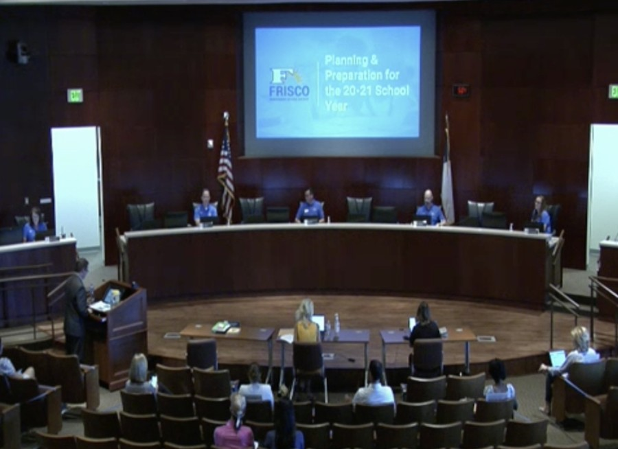 District leaders presented three options to the board of trustees as a June 11 meeting. (Courtesy Frisco ISD)