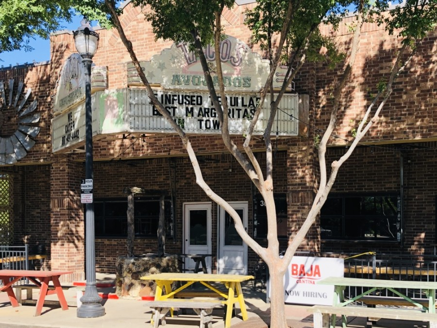 Baja Cantina is expected to open this fall on Oak Street in downtown Roanoke. (Ian Pribanic/Community Impact Newspaper)