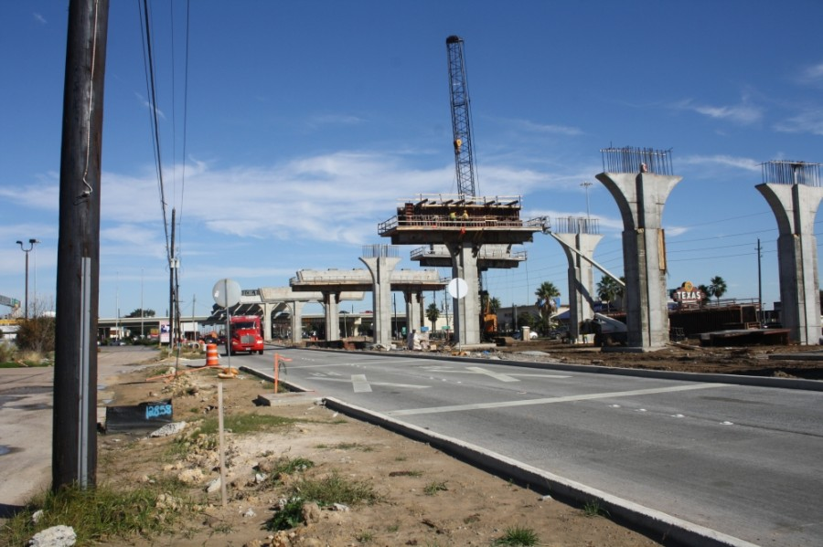 Flyover bridge construction