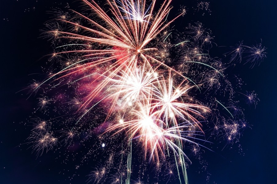 The city of New Braunfels' Fourth of July fireworks show will take place at Landa Park and will be streamed online. (Courtesy Pexels)