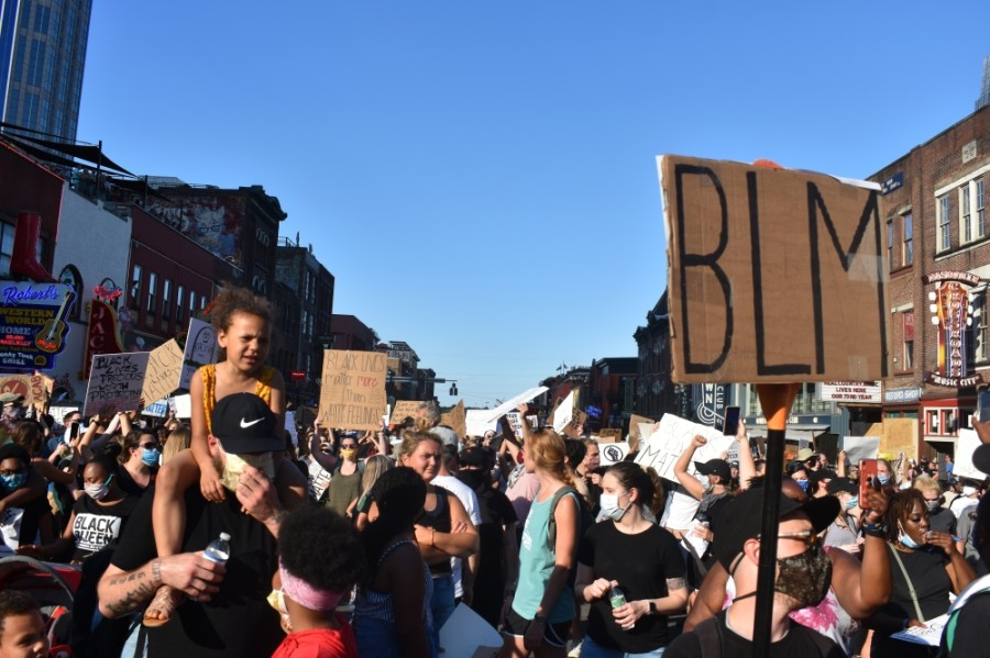Thousands made their way through downtown Nashville in protest of police brutality and racism on June 13.
