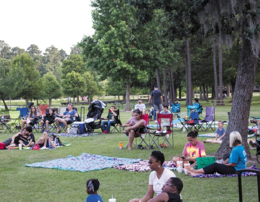 Harris County Precinct 4's movie nights have been held in Burroughs Park in Tomball in previous years. (Anna Lotz/Community Impact Newspaper)