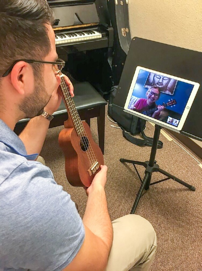 Teachers at Curious Chords are now conducting music lessons through Zoom. (Courtesy Curious Chords)