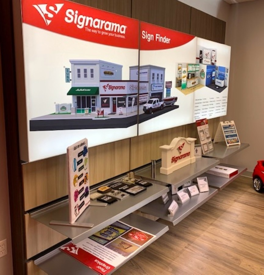 The new graphic design and sign printing store has been open since May 1. (Courtesy Signarama)