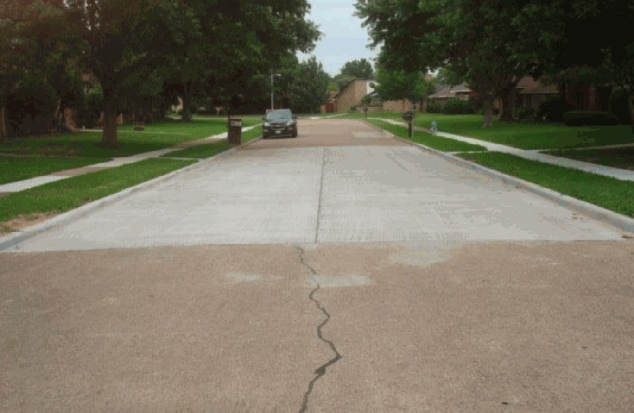 Localized concrete repairs help extend a street's useful life, according to city staff. (Courtesy city of Richardson)