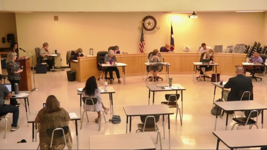 San Marcos CISD board members went over potential scenarios to resume classroom instruction in the 2020-21 school year at a June 15 meeting. (Evelin Garcia/ Community Impact Newspaper)