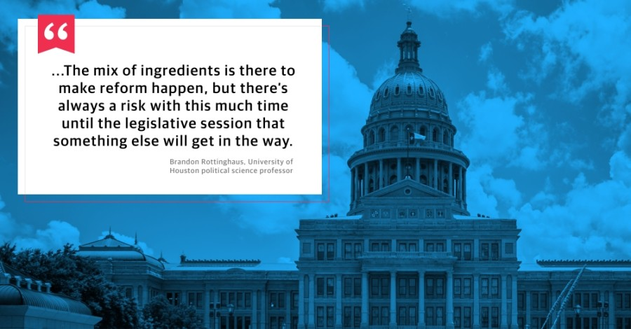 Political science professor Brandon Rottinghaus spoke about the potential focus on law enforcement and criminal justice reforms in the 87th Texas Legislature. (Photo courtesy Adobe Stock)