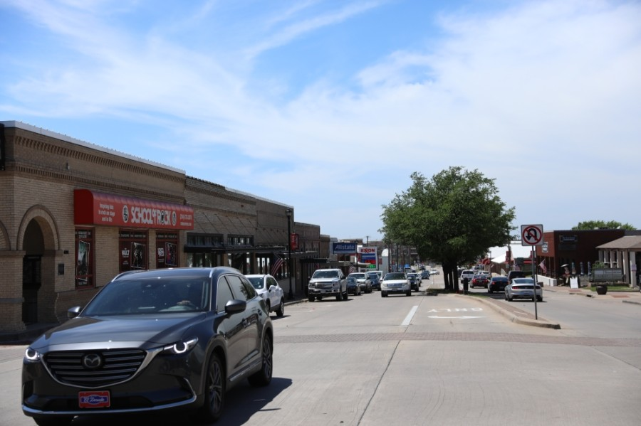 Merchant engagement for downtown Frisco's street improvements is ongoing, and the city will seek options for on-street parking and driveway consolidation. (Liesbeth Powers/Community Impact Newspaper)