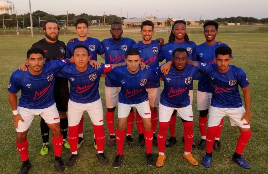 Tyler Watterson (top left) is the founder and CEO of the Lone Star Republic soccer club, which includes a semi-pro team being scouted by a professional league. (Courtesy Lone Star Republic)