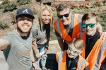 Group of volunteers posing for a selfie