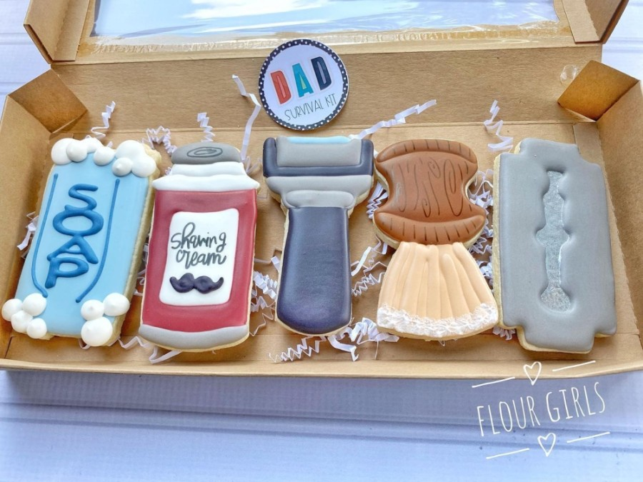 Flour Girls, an in-home bakery in Humble, will host a Father's Day Porch Pop-Up event on June 20, during which customers can pick up Father's Day-themed cookies. (Courtesy Flour Girls Bakery)