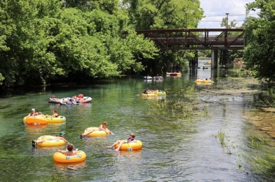 Floating the area's rivers is a popular way to cool off, but overcrowding the river may also be the cause of coronavirus spread for Hays County residents. (Courtesy San Marcos Area Chamber of Commerce)