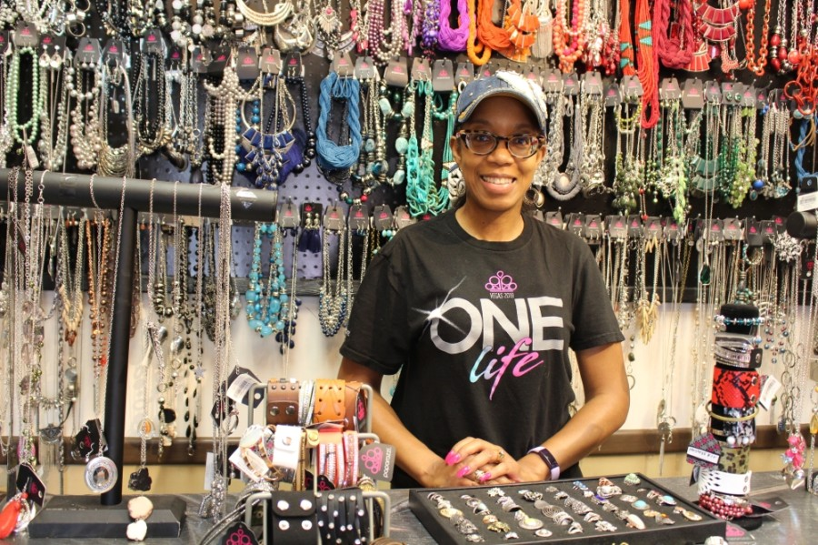 LaTrisa Edwards is the owner of the salon, which also features an adjoining accessories center. (Olivia Lueckemeyer/Community Impact Newspaper)