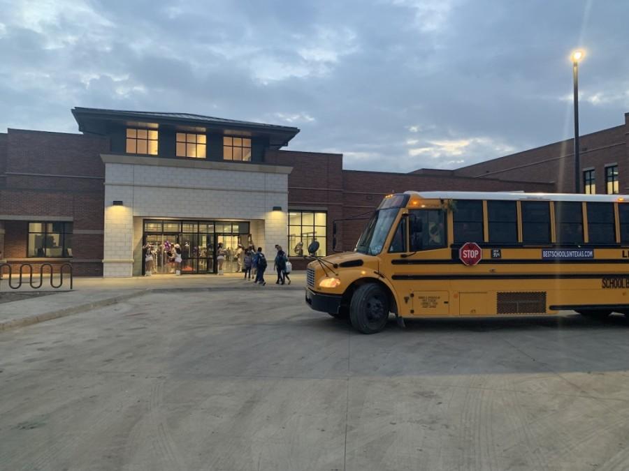 bus at a school