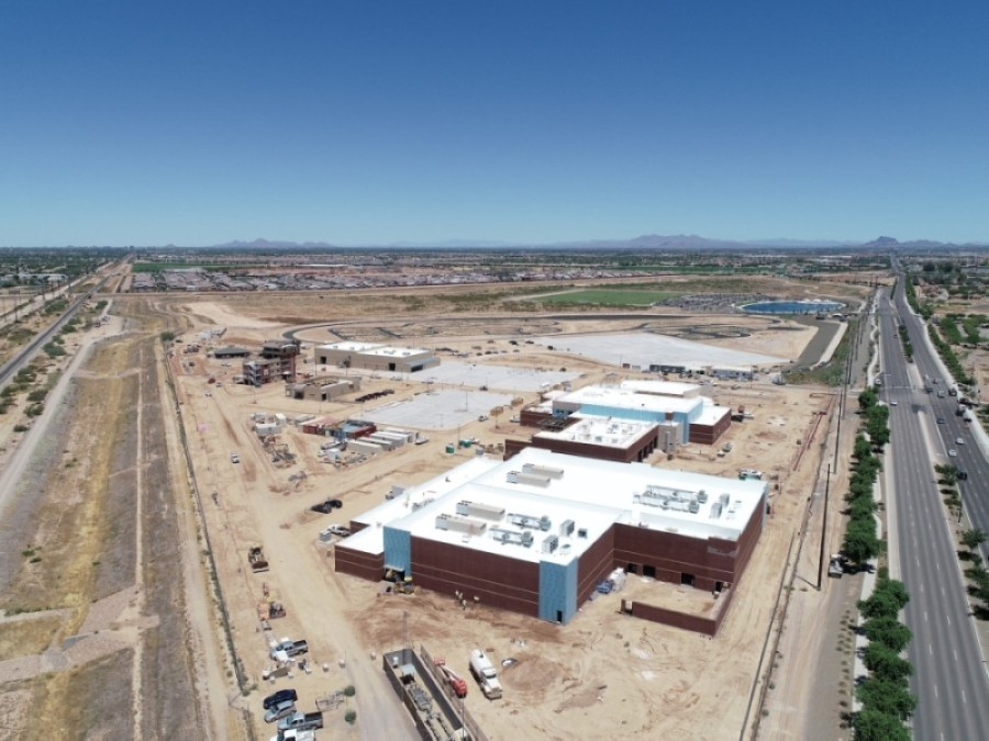 Debt service for fiscal year 2020-21 on the Public Safety Training Facility under construction in Gilbert is one item that would be covered under the town's secondary property tax levy. (Courtesy Town of Gilbert)