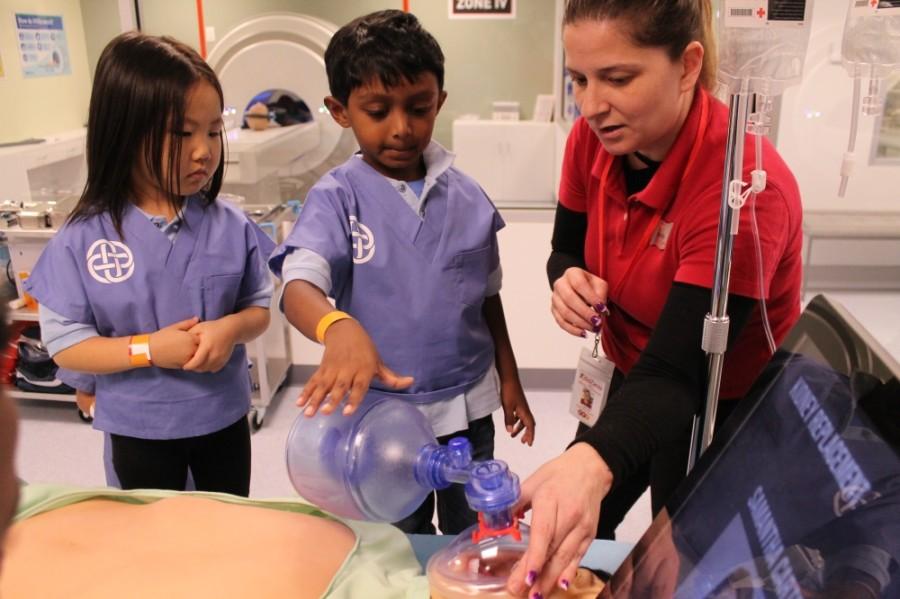 kids pretending to be surgeons