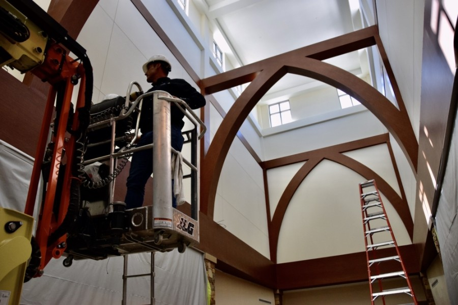 Elevated Commercial Roofing is participating in a project that will give the front lobby of Craig Ranch Fitness & Spa a face-lift. (Courtesy Craig Ranch Fitness & Spa)