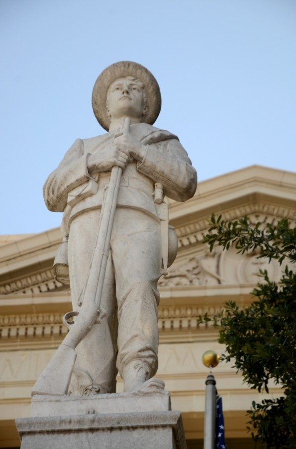 City Council members will consider and possibly take action on a resolution asking the members of the Williamson County Commissioners Court to support several actions related to the Confederate Sons of America statue. (John Cox/Community Impact Newspaper)