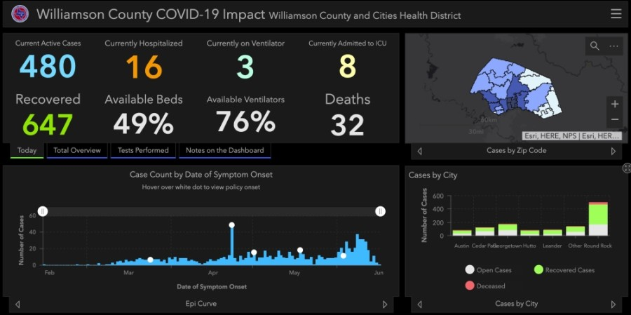 Williamson County confirmed 45 more cases of coronavirus June 19. (Courtesy Williamson County)