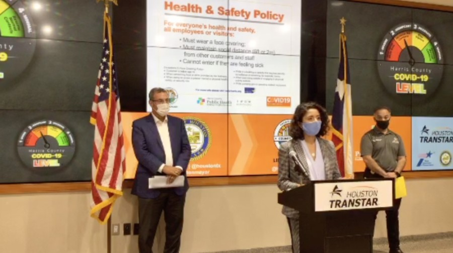 Businesses are subject to fines of up to $1,000 per violation under the order, though customers are not subject to fines. However, Harris County Judge Lina Hidalgo said the main purpose of the order is educational and its effectiveness will hinge largely on business owners cooperating voluntarily. (Screenshot Courtesy Ready Harris)