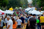 People crowded in downtown Milton for Crabapple Fest