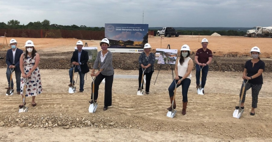 District officials initiated site work for a future elementary campus at the intersection of Sawyer Ranch Road and Darden Hill Road. (Courtesy Dripping Springs ISD)