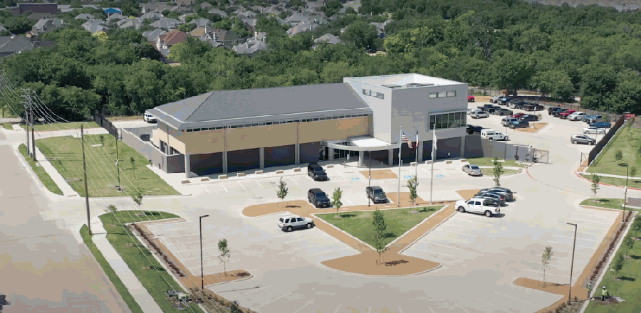 The city of Plano is days away from opening its new police substation. (Screenshot from city of Plano video)