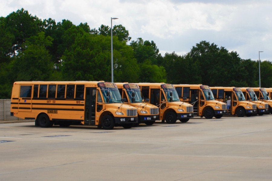 Katy ISD school buses