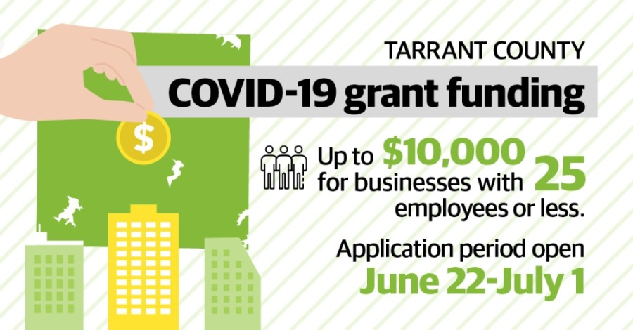 Beginning June 22, Tarrant County small businesses are able to apply for up to $10,000 in federal grants in light of the COVID-19 pandemic.