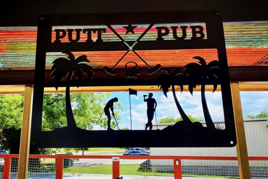 The new miniature golf course is projected to open at the end of July. (Courtesy Putt Pub)