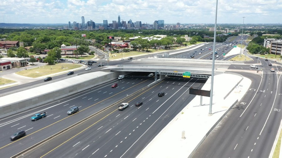 A project to improve I-35 in South Austin near the intersection with Oltorf Street is complete as of June 25, according to the Texas Department of Transportation. (Courtesy TxDOT)