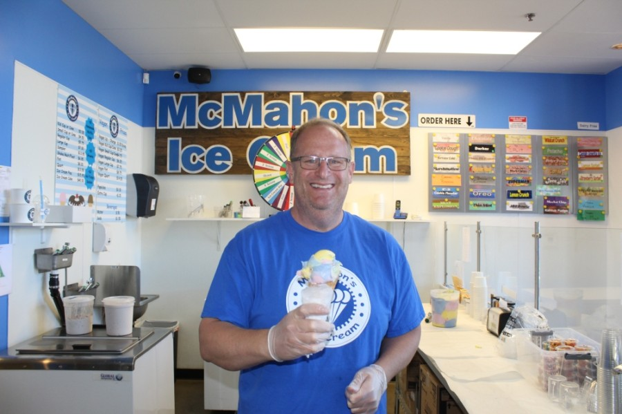 Jim McMahon said he always loved ice cream. When he met his wife, he found that was something they had in common. (Alexa D'Angelo/Community Impact Newspaper)